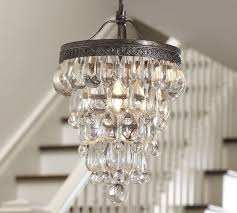 clarissa glass drop small chandelier pottery barn
