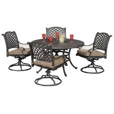 brown set patio source outdoor. Moab World Source 5-Piece Patio Dining Set Brown Outdoor A