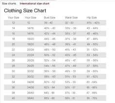 Jessica London Size Chart Clothing Size Chart Size Chart
