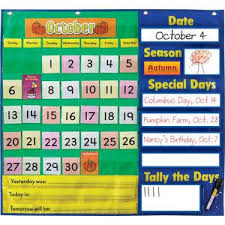 Calendar Pocket Chart Set Todays Calendar Pocket Chart By Really Good Stuff Inc