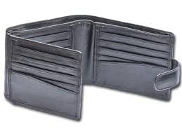real leather mens bi fold leather wallet with 20 card slots on clasp closure