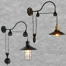 Wall Mounted Light Fixture Details About Industrial Gooseneck E27 Lamp Wall Mounted Light Fixture Pulley Reflector Sconce