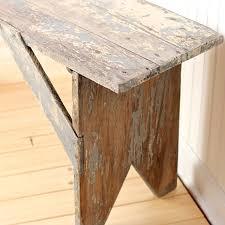 Rustic Vintage Antique Wood Farmhouse Bench Or Coffee Table Antique Wooden Bench49