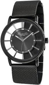 men s kenneth cole gunmetal stainless steel watch kc9176