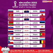 SMMSPORT - ⚽ โปรแกรมฟุตบอลโลก 2022 รอบคัดเลือก โซนยุโรป...
