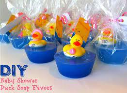diy duck baby shower favors