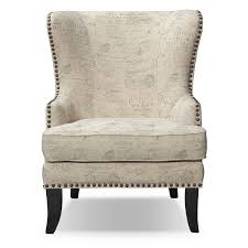 Marseille Bedroom Furniture Marseille Accent Chair Cream And Black American Signature