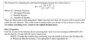 Amortize A Loan Formula Solved The Formula For Computing The Amortized Mortgage P
