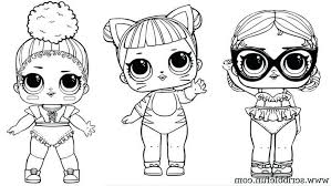 Lol Dolls Coloring Pages Touchdown Doll Coloring Page Surprise Pages