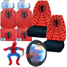 marvel spiderman car seat covers accessories complete 8pc