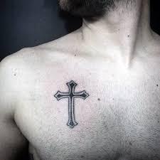 cross chest tattoo designs. Perfect Cross Simple Cross Tattoo On Chest Inside Designs T