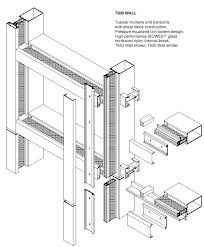 curtainwall 1600 jpg 439 552 kawneer exploded isometric at sill concrete slab architectural structure concrete slab concrete and