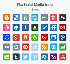 social media logos. preview-flat-icons. flat social media logos