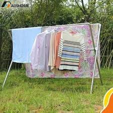 outdoor heavy duty extendable and stainless steel clothes rack have stock hanger singapore