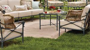 industrial style outdoor furniture. Industrial Style Patio Design With Smith Hawken Cast Aluminum Furniture Set, And Glass Top Outdoor