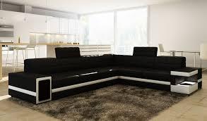 Sofas Ecksofa Leder Big Leder Polster Neu Couch