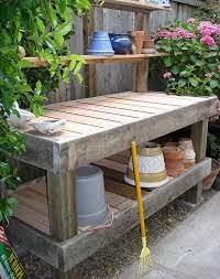 my new potting bench outdoor potting