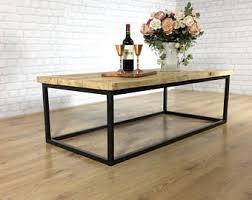 handmade living room furniture. Industrial Coffee Table Solid Wood Vintage Reclaimed Rustic Farmhouse Style Plank Top Metal Steel Chunky Handmade Living Room Furniture I