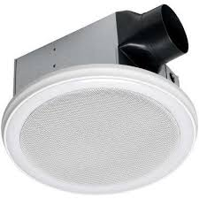 decorative white 110 cfm ceiling mount bluetooth stereo speakers bathroom exhaust fan with led light