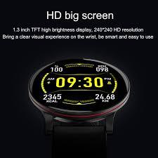 <b>New W9 Smart Watch</b> HD Big Screen Bracelet Heart Rate ...