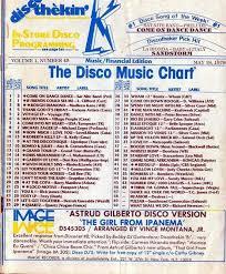 Disco Music Chart 1978 Music Charts Chart Songs Songs
