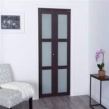dark brown frosted glass closet door