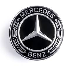 mercedes logo. Simple Mercedes MercedesBenz Black Hood Emblem And Mercedes Logo C