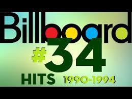 Billboard Hot 100 34 Singles 1990 1994 Chart Sweep