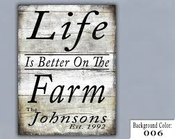 Small Picture FARM Handmade Sign Wooden Sign Wood Sign Home Decor Wall