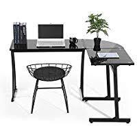 home office table. Coavas Computer Office Desk L-Shaped Black Glass Corner  Workstation Large PC Gaming Home Office Table