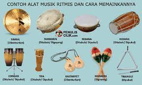 Di pasaran, drum yang beredar tidak terdiri atas kulit, melainkan plastik. 8 Contoh Alat Musik Ritmis Dan Cara Memainkannya Penulis Cilik