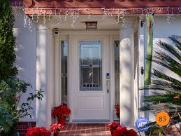 white single front doors. White Entry Door With 2-Sidelights. Traditional Style Single 36x80 In 5 Foot Front Doors
