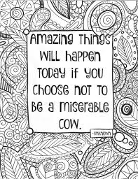 Adult Coloring Page Funny Quote Coloring Sheet Instant Download
