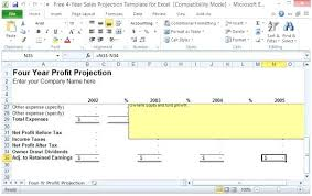Profit Projections Template Sales Forecast Template Yearly Excel Prinsesa Co