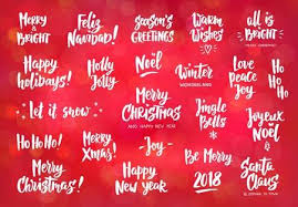 Holiday Greetings Quotes Mesmerizing Set Of Holiday Greeting Quotes And Wishes Hand Drawn Text Brush