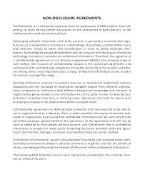 Confidentiality Agreement Free Template Fascinating Non Disclosure Agreement Template Simple Non Disclosure Agreement