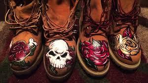 Custom Design Timberland Boots Custom Timberland Boots Luxury Designer Deadly Roses Youtube