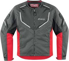 icon citadel mesh textile jacket jackets red icon leather jacket