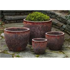 red ceramic planters kinsey garden decor