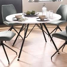 Esstisch Rund 100 Cm Weiss Glas Tisch Ausziehbar
