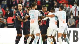 Игроки «ПСЖ» и «Марселя» подрались – судья показал 5 красных карточек -  Eurosport