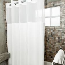 featuring a pique woven pattern this hookless shower curtain is 100 polyester includes