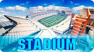 Minecraft Apogee Stadium Football Field Recreated In Minecraft Map W Download