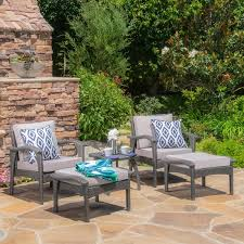 Honolulu Outdoor 5 piece Wicker Seating Set with Cushions by