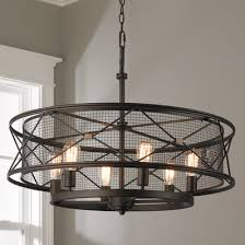 unique chandelier lighting. X-Cage Urban Chandelier - 6-Light Unique Lighting