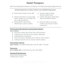 Dance Instructor Resume Extraordinary Exotic Dancer Resume Sample Template Dancers Ocneurotherapy