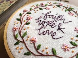 Love Hand Embroidery Designs Faith Hope Love Floral Hand Embroidery Pdf Pattern Download