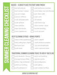 cleaning checklists free summer cleaning checklist clean mama
