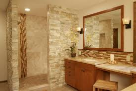 rustic stone bathroom designs. Rustic Stone Bathroom Designs Fresh On New White Stain Wall Varnished Wood  Floor Tile Natural Pebble Stole Mirror Mix Brown Bench Frame Porcelain Bathtub Rustic Stone Bathroom Designs E