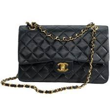CHANEL Classic 2.55 Black Quilted Bag: Chanel - CH-CLASSIC 2 ... & CHANEL Classic 2.55 Black Quilted Bag: Chanel - CH-CLASSIC 2.55-BLK1112 - Adamdwight.com